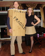 A Christmas Story Leg Lamp and Box Couple Costume