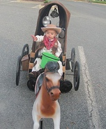 A Cowboy and his Horse and Buggy Homemade Costume