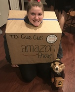A Delivery Doggy and his Package Homemade Costume