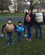 A Family of Planets Homemade Costume