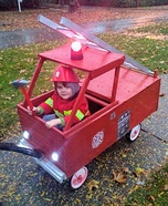 A Fireman and his Truck Homemade Costume