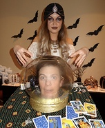 A Fortune Teller and her Crystal Ball Homemade Costume