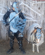 A Knight with his Pony Homemade Costume