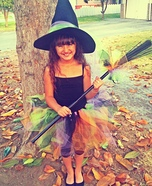 A Tutu Cute Witch Homemade Costume