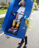 Honey Bucket homemade costume