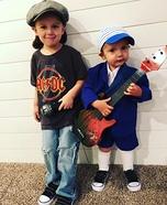 AC/DC Boys Homemade Costume