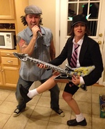 AC/DC - Brian Johnson & Angus Young Homemade Costume