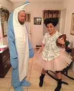 Ace Ventura and Snowflake the Dolphin Homemade Costume