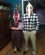 Adam and Barbara from Beetlejuice Homemade Costume
