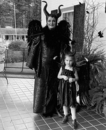 Adult and young Maleficent Homemade Costume