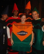 Adult Crayons and Box Homemade Group Costume