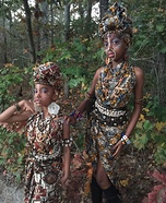 African Princesses Homemade Costume