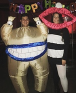 Ahh! Real Monsters Oblina and Krum Homemade Costume