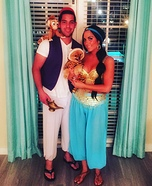 Aladdin and Jasmine Homemade Costume