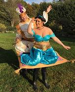 Aladdin and Jasmine on their Magic Carpet Homemade Costume