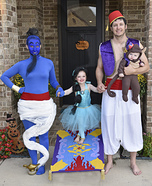 Aladdin Family Homemade Costume