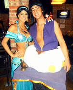 Couples Halloween costume idea: Aladdin & Jasmine