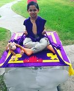 Aladdin on Flying Carpet Homemade Costume