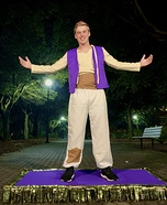 Aladdin with Magic Carpet Homemade Costume
