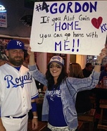 Alex Gordon and Royals Fan Homemade Costume