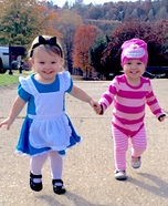 Alice and Cheshire Cat Homemade Costume
