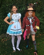 Alice and Mad Hatter Homemade Costume