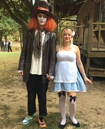 Alice and Mad Hatter Couple Homemade Costume