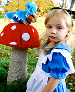 Alice and the Caterpillar from Alice in Wonderland Homemade Costume