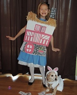Alice and the White Rabbit Homemade Costume