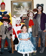 Alice In Wonderland Homemade Family Costumes