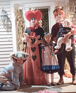 Alice in Wonderland Family Homemade Costume