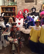 Alice in Wonderland Group Homemade Costume