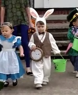 Alice in Wonderland Kids Homemade Costume