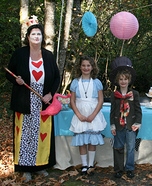 Alice In Wonderland Mad Hatter Tea Party Homemade Family Costume