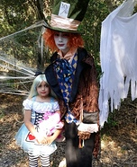 Alice in Wonderland & Mad Hatter Homemade Costume