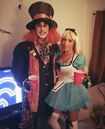 Alice in Wonderland & The Mad Hatter Homemade Costume