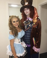 Alice & Mad Hatter Homemade Costume