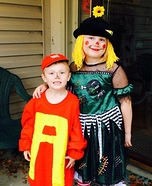 Alvin & Scarecrow Clown Homemade Costumes