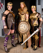 Amazons from Wonder Woman Homemade Costume