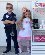 America Runs on Dunkin Homemade Costume