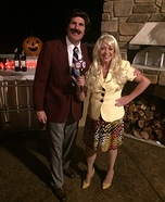 Anchorman Ron Burgundy and Veronica Corningstone Homemade Costume