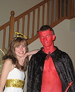 Angel and Devil Halloween costumes