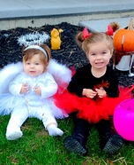 DIY baby costume ideas: Angel & Devil Divas Costume
