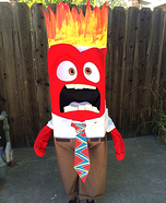 Anger from Inside Out Homemade Costume