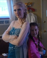 Anna and Elsa Homemade Costume