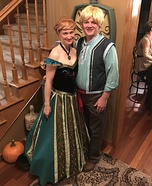 Anna and Kristoff Homemade Costume