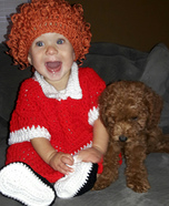 Annie and Sandy Homemade Costume