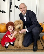Annie, Daddy Warbucks and Sandy Homemade Costume