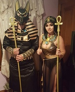 Anubis and Cleopatra Homemade Costume
