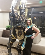 Anubis and Egyptian Queen Homemade Costume